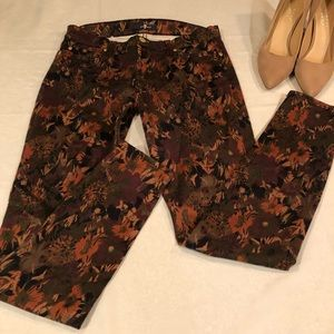 7 for All Mankind Fall print Skinny Jeans 28